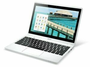 """11.6"""" ACER CHROMEBOOK C720P PANDA WHITE & BLACK WITH CHROME OS WEBCAM HDMI"""