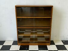 More details for vintage mid century simplex glazed stacking sectional library bookcase -delivery