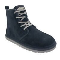 UGG HARKLEY TRUE NAVY SUEDE SHEEPSKIN MEN'S LACE UP CHUKKA BOOTS US SIZE 9