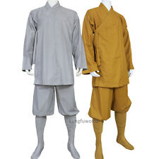 Cotton Shaolin Buddhist Monk Suit Kung fu Tai chi Uniform Meditation Suit