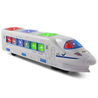 HIGH SPEED BUMP AND GO EMU TRAIN WITH FLASHING LIGHTS MUSICAL SOUND TOY 17 CM