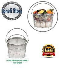 Aozita Steamer Basket for Instant Pot 6 qt / 8 qt, 2 Tier, Pasta, Egg, Vegetable