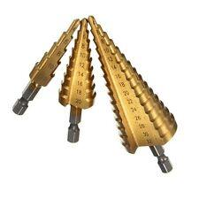 Pop HSS High Speed Steel Triangle Shank Pagoda Step Drill Bit Hole Cutter 4-12mm