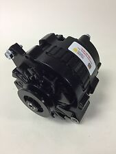 75-90 JEEP CJ WRANGLER YJ HIGH OUTPUT ALTERNATOR 140 AMP BLACK PAINTED SNGL PLLY