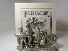 "Harley-Davidson ""A Good Day's Catch"" Pewter Sculpture"