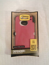 OtterBox Defender Case with Belt Clip Holster for HTC One M7 Pink 77-32426