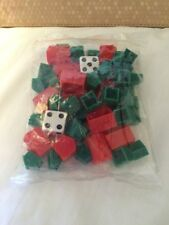New Sealed Pack of Classic Monopoly Dice Hotels Houses Replacement Hasbro