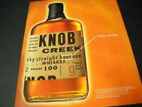 KNOB CREEK Kentucky Straight Bourbon OUR LITTLE SECRET 1999 Promo Poster Ad mint