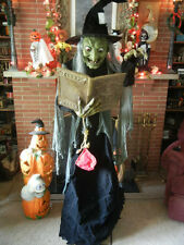 ANIMATED 6 FOOT LIFE SIZE SPELL CASTING GRETA the TALKING WITCH HALLOWEEN PROP