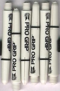 1.75in. 2ba White TARGET Pro Grip Dart Shafts & Springs: 1 set of 3
