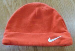 Baby/Infant NIKE Orange/White Hat Cap Cotton Size 0-3 Months