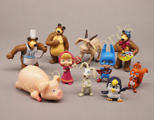 10pcs Cartoon Mascha und der Bär Neu PVC 4-8cm Figur Kinderspielzeug Geschenk