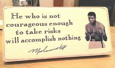 Shabby Chic Muhammad Ali. Picture Plaque, Sign. 100% Solid Wood. Beautiful Gift.