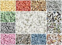 CHOOSE COLOR! 10g (cca 80pcs) 6mm MATUBO Wheel Beads Czech Pressed Glass