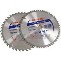 "Pack of  2 - 12 "" / 300 mm TCT Saw Cutting Discs / Blades  40 & 60 Teeth"