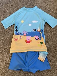 Next Peppa Pig Sun Safe Sun Suit UPF 50+ Beach Seaside Holiday Age 6 Years