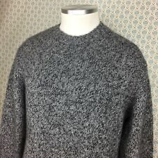 Grayson Dunn 100% Cashmere Pullover Sweater Men's Medium Gray Heather Thick Knit
