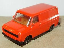 rare ancien MICRO HERPA HO 1/87 FORD TRANSIT FOURGON ORANGE