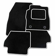 FORD MUSTANG 2015+ FULLY TAILORED CAR MATS- BLACK CARPET WITH WHITE EDGING