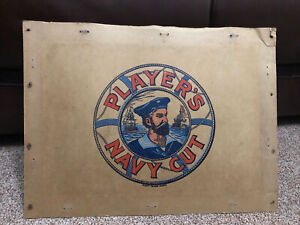 Players Navy Cut Cardboard Advertising From 1957 Packing Case