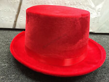 red velvet top hat hatter party costume magician fedora formal lincoln christmas