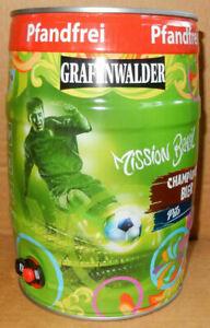 GRAFENWALDER Bier WORLD CUP SOCCER BRASIL 2014 gallon from GERMANY (5 Liter)