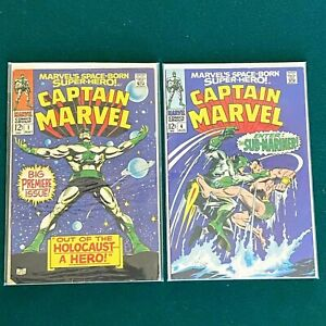 Marvel Silver Age Captain Marvel Lot Of 2 #1 #4