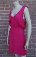 Lulus women's pink fuchsia dress cut out Open Back w/ Belt size M New with Tags