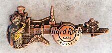 HARD ROCK CAFE BRUSSELS 3D BRONZE SKYLINE GUITAR SERIES PIN # 95642