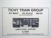 Tichy HO  USRA 30' Two Bay Steel hoppers ,  6 car Bulk Pack  kit 6027