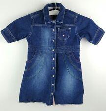 Vintage Girls Dress 4T Tommy Hilfiger with Pockets Toddler Denim Jumper Romper