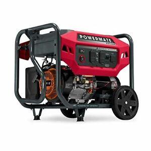 Powermate P0080301 Gas Generator 9400 Watt 49 ST, Powered by Generac, Red, Black