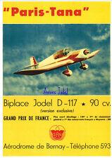 Reproduction publicité vintage JODEL D117 PARIS TANA