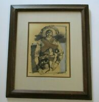 GUERRERO VINTAGE PORTRAIT PAINTING ABSTRACT EXPRESSIONISM SIGNED MODERNISM