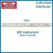 Toledo 300M - Stainless Steel Single Sided Rule Metric - 300mm