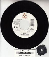 "MADONNA Erotica 7"" 45 rpm vinyl record + juke box title strip"