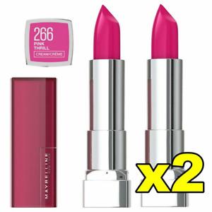 2x Maybelline Color Sensational Cream Lipstick - 266 Pink Thrill