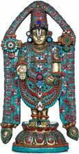 "Venkateshvara Tirupati Balaji God Hindu Statue 23""Stone Art Brass Figure 19.8 KG"