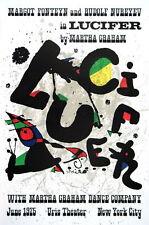 Lucifer, 1975 by Joan Miro Lithograph Art Print Miró Exhibition Poster 21x31.25