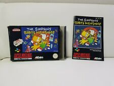 Super Nintendo The Simpsons Barths Nightmare Ovp + Anleitung Snes 1 Tag Auktion