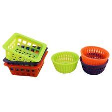 1/12 Dollhouse Miniature plastic basket for washing vegetable fruit 6pieces N3X3