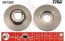TRW Juego de 2 discos freno 273mm PEUGEOT 505 604 305 504 TALBOT TAGORA DF1203