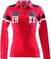 Polo Mujer Sudadera Sport Blusa Manga Larga Suéter Jersey Hammersmith ROJO S