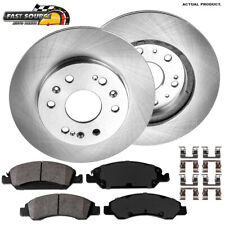 For Escalade Silverado Tahoe Sierra Suburban Front Brake Rotors And Ceramic Pads
