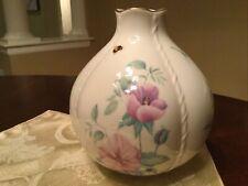 Lenox China Morningside Cottage Globe Vase: Peonies, Dragonflies, Bees, Ladybugs