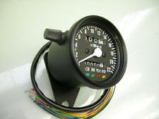 Cafe racer Black Mini speedo Speedometer + function Lights XS 650 XS 750 Sr 500