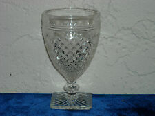 Miss America Footed Juice Goblet  Crystal