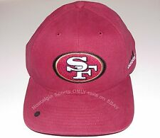 Vintage 90s San Francisco 49ers ADIDAS Strapback NOT SnapBACK Hat RED Cotton NWT