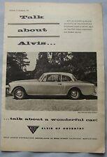 1962 Alvis 3-litre series II Original advert