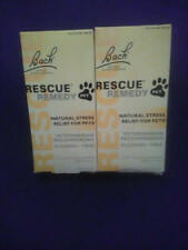 TWO BACH RESCUE REMEDY   20 ml (0.70 fl oz) EA  PET STRESS RELIEF 40 ml TOTAL